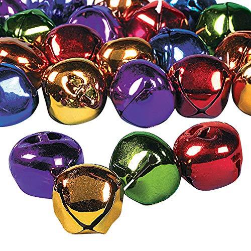 Rainbow Jumbo Jingle Bells - 24Pcs - Crafts for Kids and Fun Home Activities