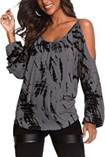 Damen Oberteile Elegant Bluse Damen Sexy Schulterfrei Herbst Langarmshirt Casual T-Shirt