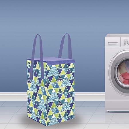 Wonder Cub Foldable Laundry Bag/Basket Toy Storage Box with Lid,35 L, Small, Trio