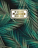 18 Month Planner 2020-2021: Weekly & Daily Planner with Monthly Spread Views - Pretty Coconut Palm Leaves Organizer & Agenda with Notes, Motivational Quotes & Vision Boards (January 2020 - July 2021)