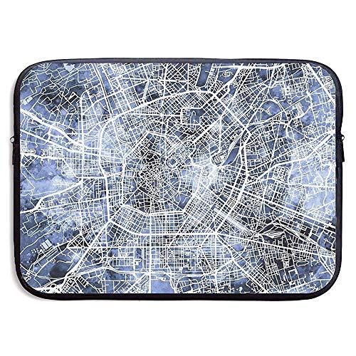 Milán Italia Mapa de la Ciudad Funda para portátil Funda para computadora 15 Pulgadas