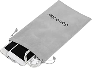 Docooler Storage Bag Carrying Bag Small Drawstring Flocked Protection Pouch Grey 13.5 * 23.5CM