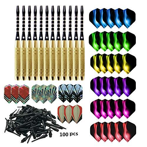 cdsnxore Dartpfeile, Dartpfeile mit Kunststoffspitze, 18 Gramm Profi Softdarts (16 Gramm Barrel), 12 Stück Soft Darts Pfeile Set