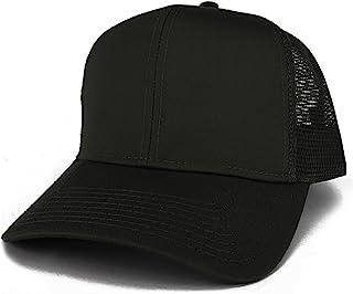 Armycrew XXL Oversize High Crown Adjustable Plain Mesh Back Trucker Baseball Cap