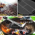 Qomolo Grill Brush 3 in 1 BBQ Grill Brush with Strong Stainless Steel Scraper Grill Cleaning Brush for Charcoal Electric… 8