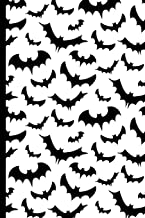 Halloween Scary Bats Pattern: College Ruled Notebook