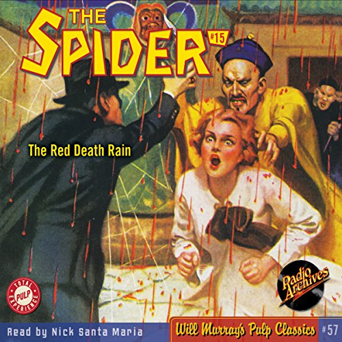 Spider #15, December 1934 audiobook cover art