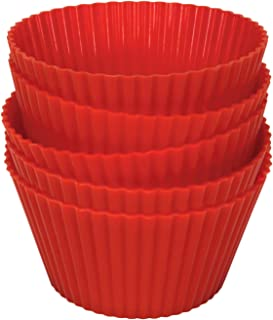 Philips HD9909/00 Silicone Muffin Cups Reusable, Airfryer Red Pack Of 5 Red