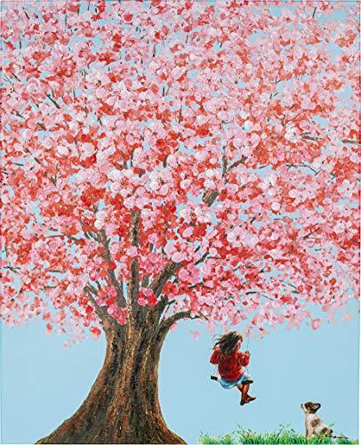 Kare Bild Touched Flower Girl 100x80cm, Bezug (Samtoptik), Applikation: Polyester, Füllung: Polypropylen, Blau