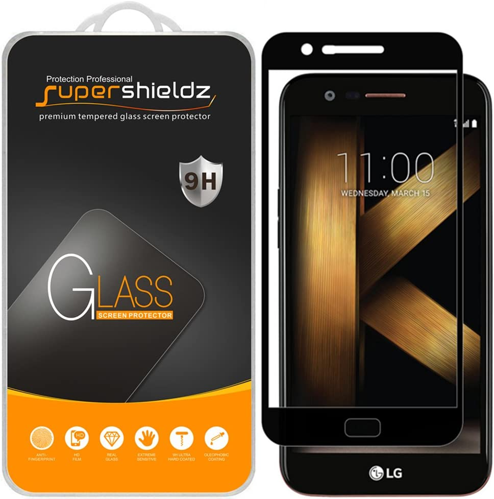 (2 Pack) Supershieldz Designed for LG Harmony Tempered Glass Screen Protector, (Full Screen Coverage) Anti Scratch, Bubble Free (Black)