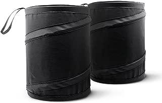Mavoro [2 Pack] Car Trash Can, Portable Garbage Bin, Collapsible Pop-up Water Proof Bag, Waste Basket Bin, Rubbish Bin
