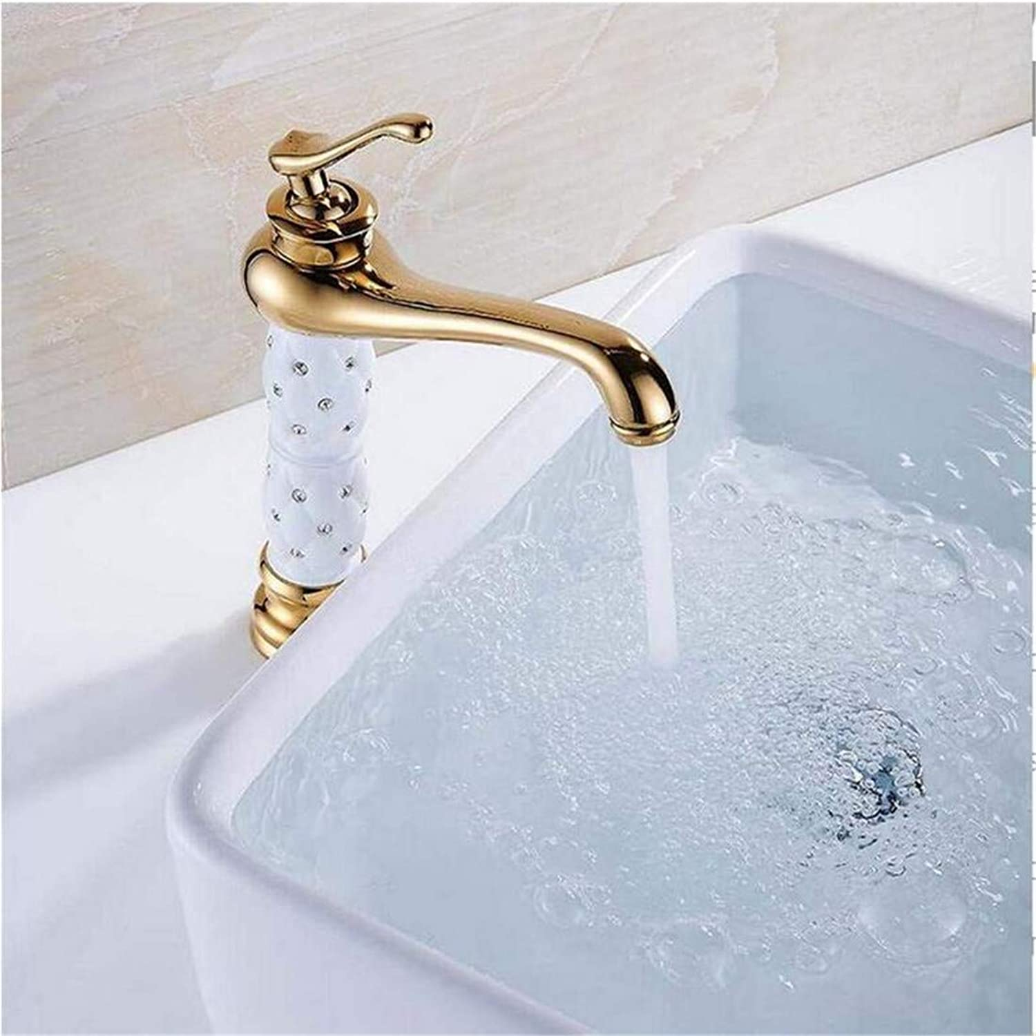 Stainless Steel Vintage Brasswashbasin Faucet Luxury Tall Bathroom Basin Taps Single Handle Vanity Single Hole Mixer Water Taps