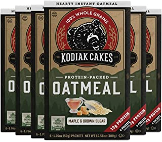 Kodiak Cakes Maple & Brown Sugar Oatmeal Packets (Pack of 6)