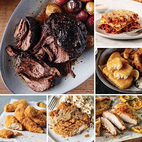 Mega Comfort Meals Sampler from Omaha Steaks (Fully Cooked Pot Roast, Italian Chicken Fingers, Chicken Fried Chicken, Oven-Roasted Chicken Breasts, Pub-Style Cod, Meat Lover's Lasagna, and more)