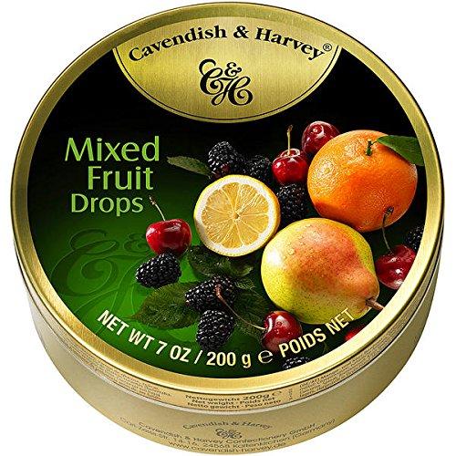 9 Dosen Cavendish & Harvey Mixed Fruit Drops Multi Frucht a 200g C & H