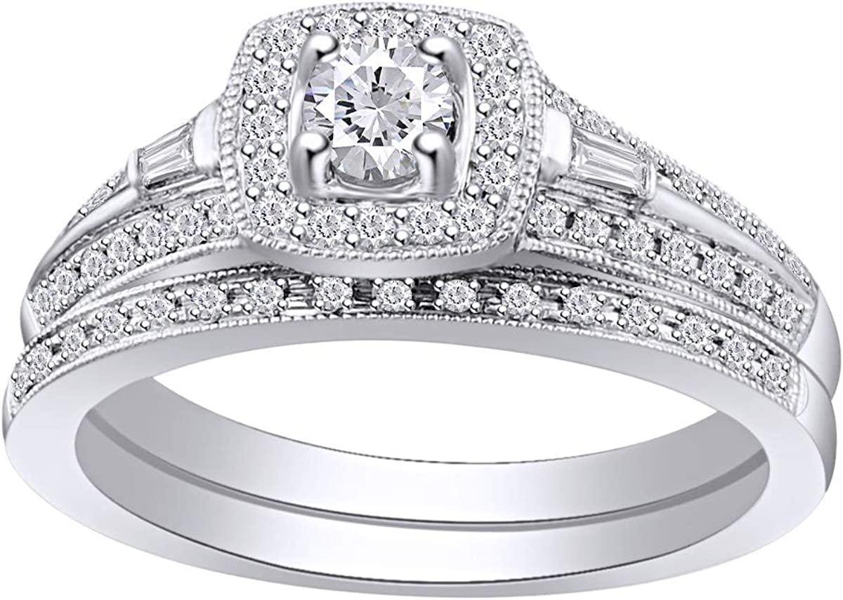 1 2 Cttw Womens Round Natural Engagement Halo Ri Wedding Diamond Raleigh Mall Many popular brands