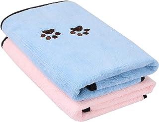 حوله خشک میکرو گربه Wipela Pet Cat Microfiber فوق العاده جاذب عالی برای استحمام و نظافت (2 بسته)