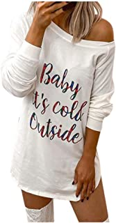 HebeTop Women's Sexy Letter Printed T-Shirt Dress Off Shoulder Midi Bodycon Dress Party Clubwear
