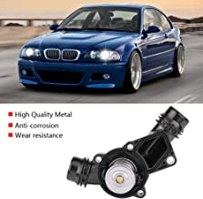Qiilu Car Thermostat Assembly with Sensor Fit for BMW E39 E46 Z3 Z4 X5 X3 325i 330i 525i 530i