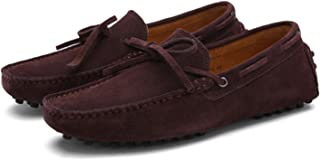 Summer Spring Men Driving Shoes Loafers Leather Boat Shoes Breathable Male Casual Flats