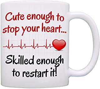 Funny Doctor and Nurse Gifts Mug - Birthday and Graduation Gift Ideas for RN CNA LPN Registered and Practitioner Nurses - Presents for Medical Doctors Men and Women Cup