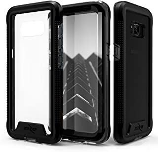 Zizo ION Series Compatible with Samsung Galaxy S8 Case Military Grade Drop Tested with Tempered Glass Screen Protector Black Smoke