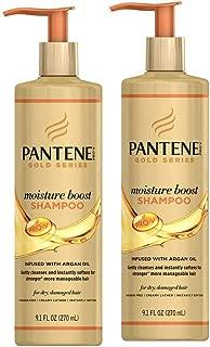 Pantene Gold Series Shampoo Moisture Boost 9.1 Ounce (270ml) (2 Pack)
