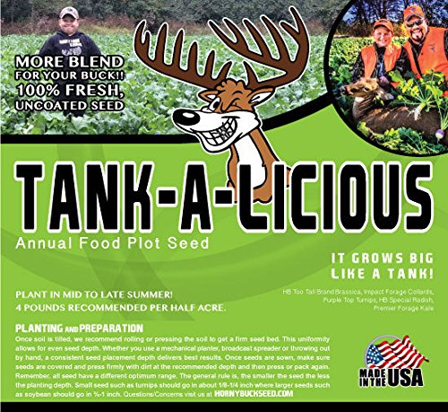 Horny Buck Food Plot Seed for Deer - Tankalicious Blend | 4 pounds