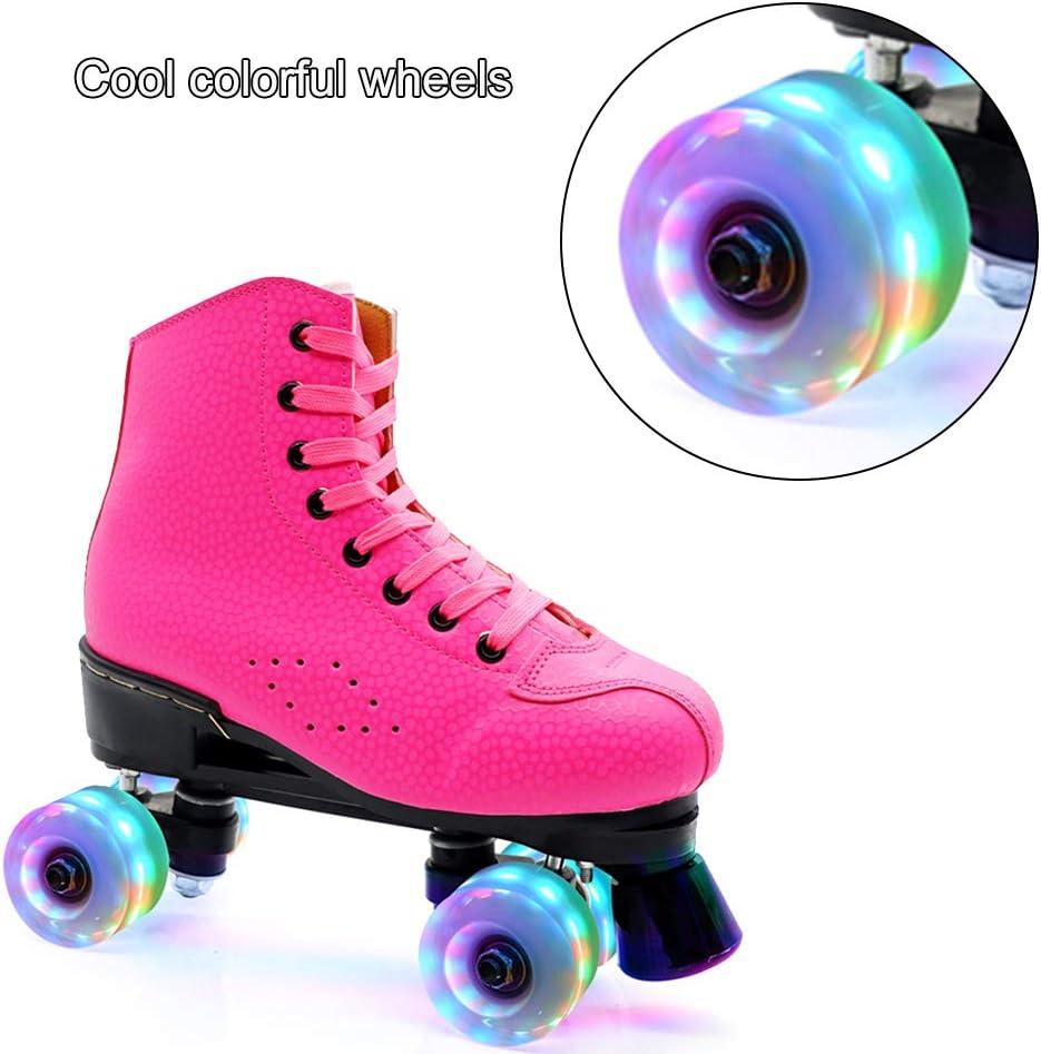 VNAKER 8Pcs Light Up Roller Skate Wheels with Tool Kit Luminous Quad Roller Skate Wheels