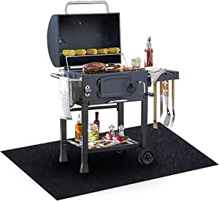 Under The Grill Mat, (36 x 72 inches) ,BBQ Grilling Gear Gas Electric Grill – Use This Absorbent Grill Pad Floor Mat to Protect Decks Patios from Grease Splatter and Other Messes