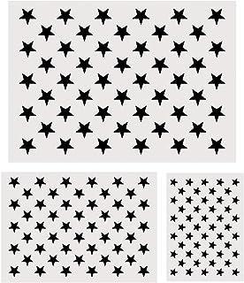 Koogel Plastic Stencil Template, 3 Sizes 50 Star Stencil Template for Planner/Notebook/Diary/Scrapbook/Graffiti/Card, DIY ...