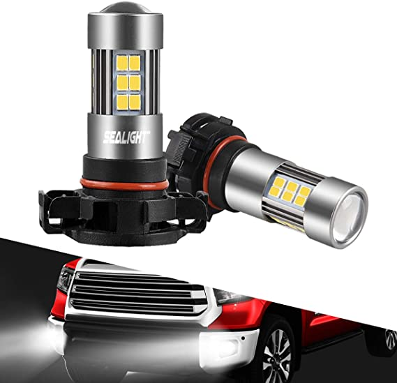 SEALIGHT 5202 LED Fog Lights Bulbs Daytime Runing Lights 2504/H16 TYPE 1(European Type Not for Japan Vehicle)/PSX24W/9009 Xenon White 6000K 27 SMD Chips