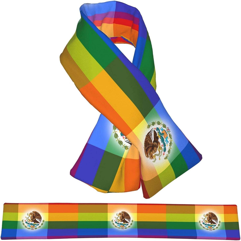 Winter Scarfs Gay Pride Mexican Flag Scarves Wraps Neck Warmer Flannel Winter Cross Tie Scarves