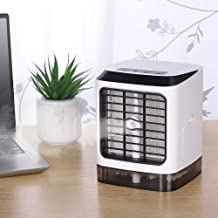 HAITRAL Personal Air Conditioner Fan, MiniAir Cooler Humidifier Desktop Cooling Fan, Ultra-Quiet Table Evaporative Air Circulator with Romote Control for Home Office Bedroom