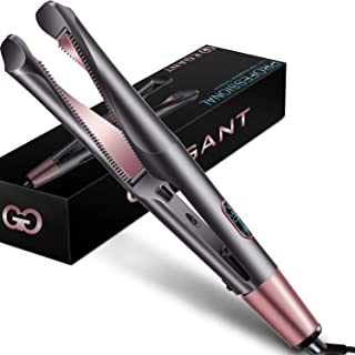 Professional Hair Straightener Curling Iron 2 in 1 Tourmaline Ceramic Twisted Flat Iron for All...