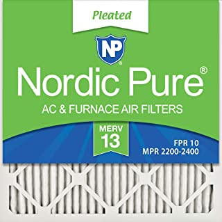 Nordic Pure 24x24x1 MERV 13 Pleated AC Furnace Air Filters, 6 Pack, 24x24x1M13-6