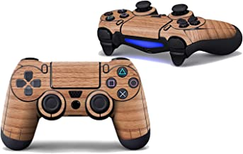 2pcs Wooden Design PVC Touch Pad Skin Stickers for PS4 Controller,0591