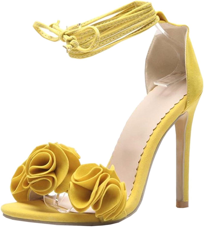 CarziCuzin Women Lace up Sandals High Heel