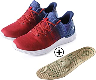 BREATH WALKER Men's Women's Sneakers Casual Walking Shoes with Feet Acupressure Magnetic Insoles Included