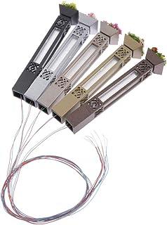 5 Unids Mini Luces de Calle LED Luces HO Escala 1: 100 Modelo de Tren Ferroviario Poste - 7,3 cm