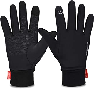Yobenki Winter Gloves, Cycling Gloves Touch Screen Gloves Waterproof and Windproof Warm Gloves for Cycling Riding Running Skiing and Winter Outdoor Activities Men & Women