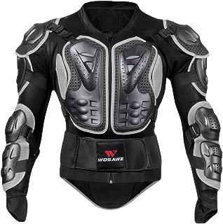 VigorY Men's Winter Motorcycle Full Body Armor Jacket Motocross Racing Spine Chest Protecto Coat Parka Jacket(Schwarz02,L)