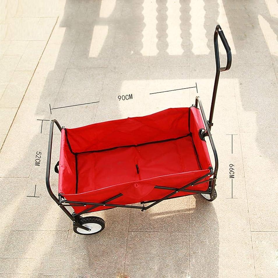 会社恩恵質素なWJ トロリー釣り小型カート折りたたみポータブル屋外トロリー釣りショッピングキャンプキャンプカート荷物カート 多機能トロリー /-/ (Color : A)