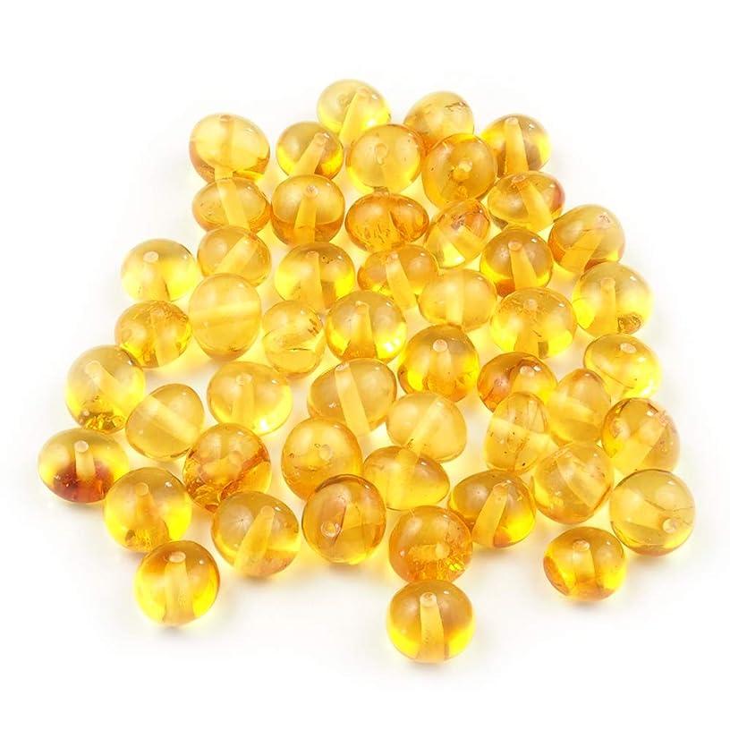 Poland's Best 50 Baltic Amber Beads Baroque 6-8 mm Light Honey