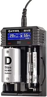XTAR SV2 Smart Digital Battery Charger Li-ion Ni-MH 16340 18650 26650 AA AAA C D