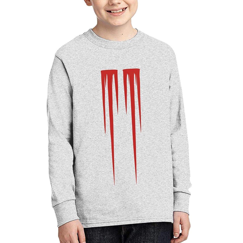 Marilyn Manson Logo スウェットスーツ 男の子 女の子 11-15歳 カジュアル スウェット 春秋 子供服 丸首 長袖 スポーツウェア ルームウェア
