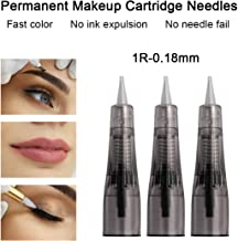 20 pcs 1R 0.18mm Permanent Makeup Cartridge Needles Needle Fits for Permanent Makeup Machine Pen(1R-0.18mm)