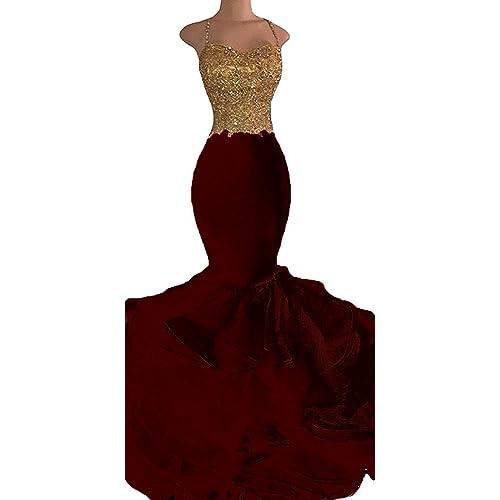 maroon prom dresses