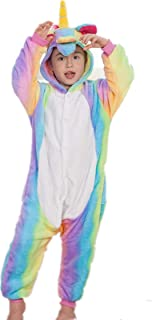 fc001203 Unicornio Onesie Kids Pjs Girls Sleepwear Pijamas para niños Cosplay Disfraz