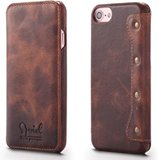Phone case For iPhone 6s / 7/8 Denior Oil Wax Horizontal Switch Leather Case with Card Slots Wallet JCXOZ phone Cover (Col...